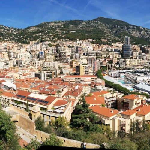 モナコの風景が一望に。 右上に王宮が見える。