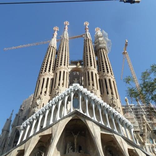 建設中のサグラダファミリア | バルセロナ