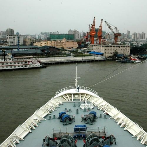無事180°ターン終了 | 上海での客船レジェンド・オブ・ザ・シーズ