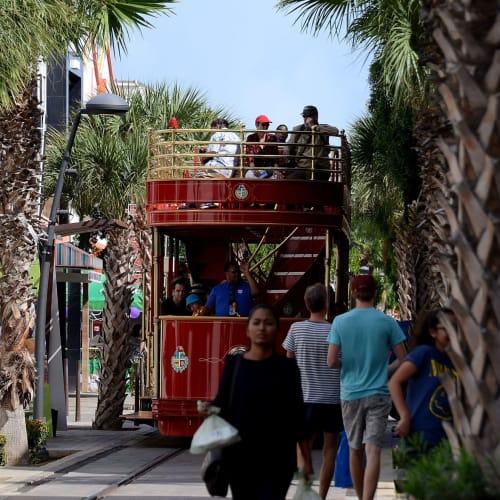 十三日目:オランダ領アルパ島オラニエスタッド寄港、街には二階建ての観光トラムが走りカラフルな街並み散策が楽しい、近くのビーチで泳ぐことも可能 | オラニエスタッド(オランダ自治領アルバ島)