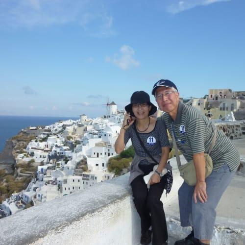 ヴェネチアを出航しギリシャ方面のクルーズを楽しみました。サントリーニはでは素晴らしい景色とワインを楽しみました。