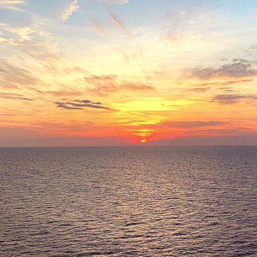 夕日の迫力