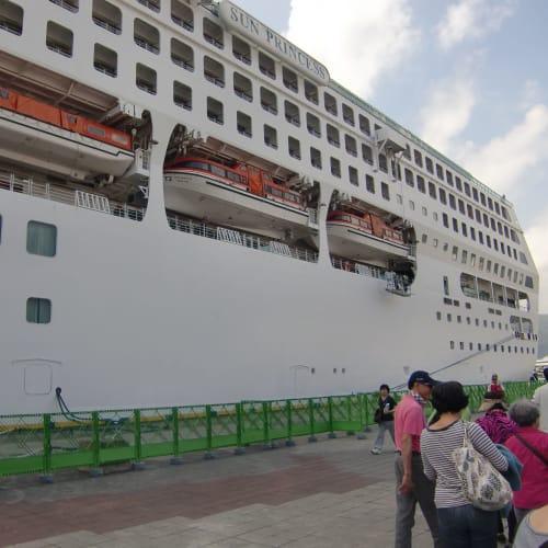奄美大島  埠頭 | 名瀬(奄美大島)での客船サン・プリンセス