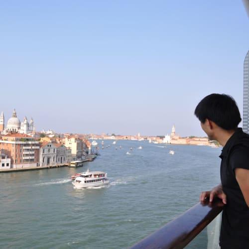 ヴェネツィアでの客船セレブリティ・シルエット
