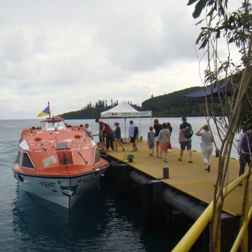 マレ島にはテンダーで | タディーヌ(マレ島)