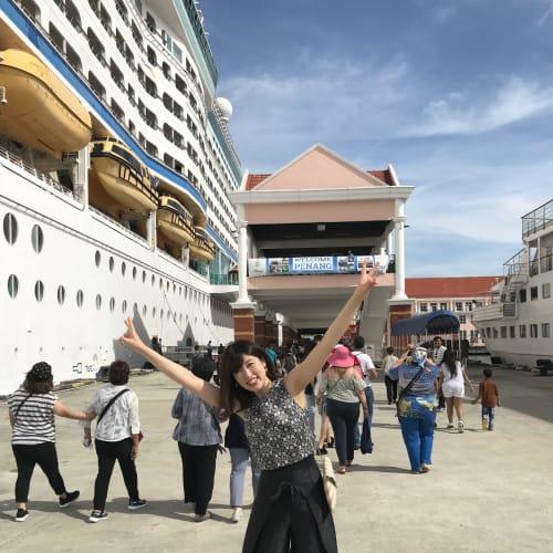 ペナン島に寄港   ペナン島での客船ボイジャー・オブ・ザ・シーズ