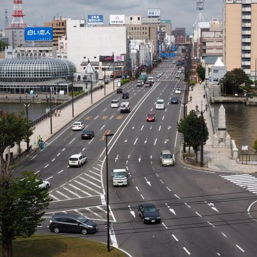 幣舞公園から見た幣舞橋です。   釧路
