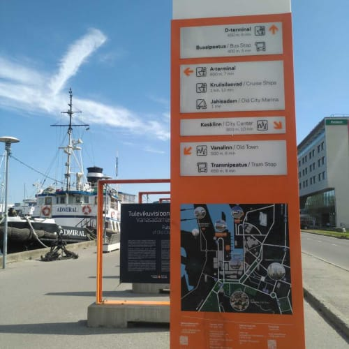 タリンク・シリヤ・ラインのDターミナルとバイキング・ラインのAターミナルの位置関係 | タリンでの客船バイキングXPRS