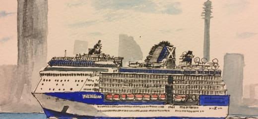 船の絵画展の緊急告知