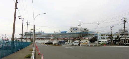 ダイヤモンドプリンセス 出港前の名古屋港