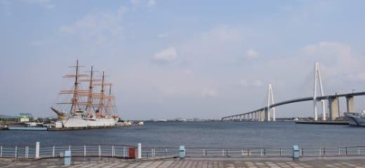 富山新港 海王丸パークと越ノ潟フェリー