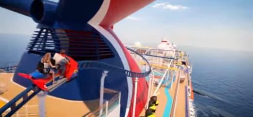 クルーズ船の屋上にスリル満点のジェットコースターが搭載!カーニバル社新造船「Mardi Gras」