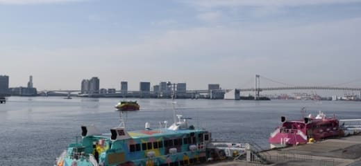 東京港クルーズ客船ダブル入港、そして シンフォニーで朝食を