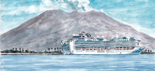 鹿児島港 マリンポートかごしまのDIAMOND PRINCESS