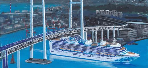 ダイヤモンドプリンセス、最後の横浜港大さん橋接岸
