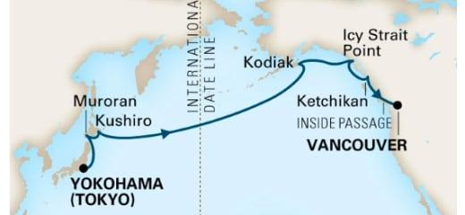 2019年GWクルーズ選び(3)いつかは狙いたい、日本〜アラスカ航路