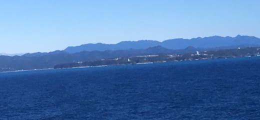 台風一過の潮岬沖