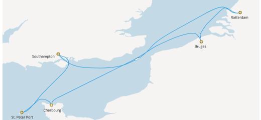 2019年GWクルーズ選び(7)P&O Azuraの英仏海峡周遊