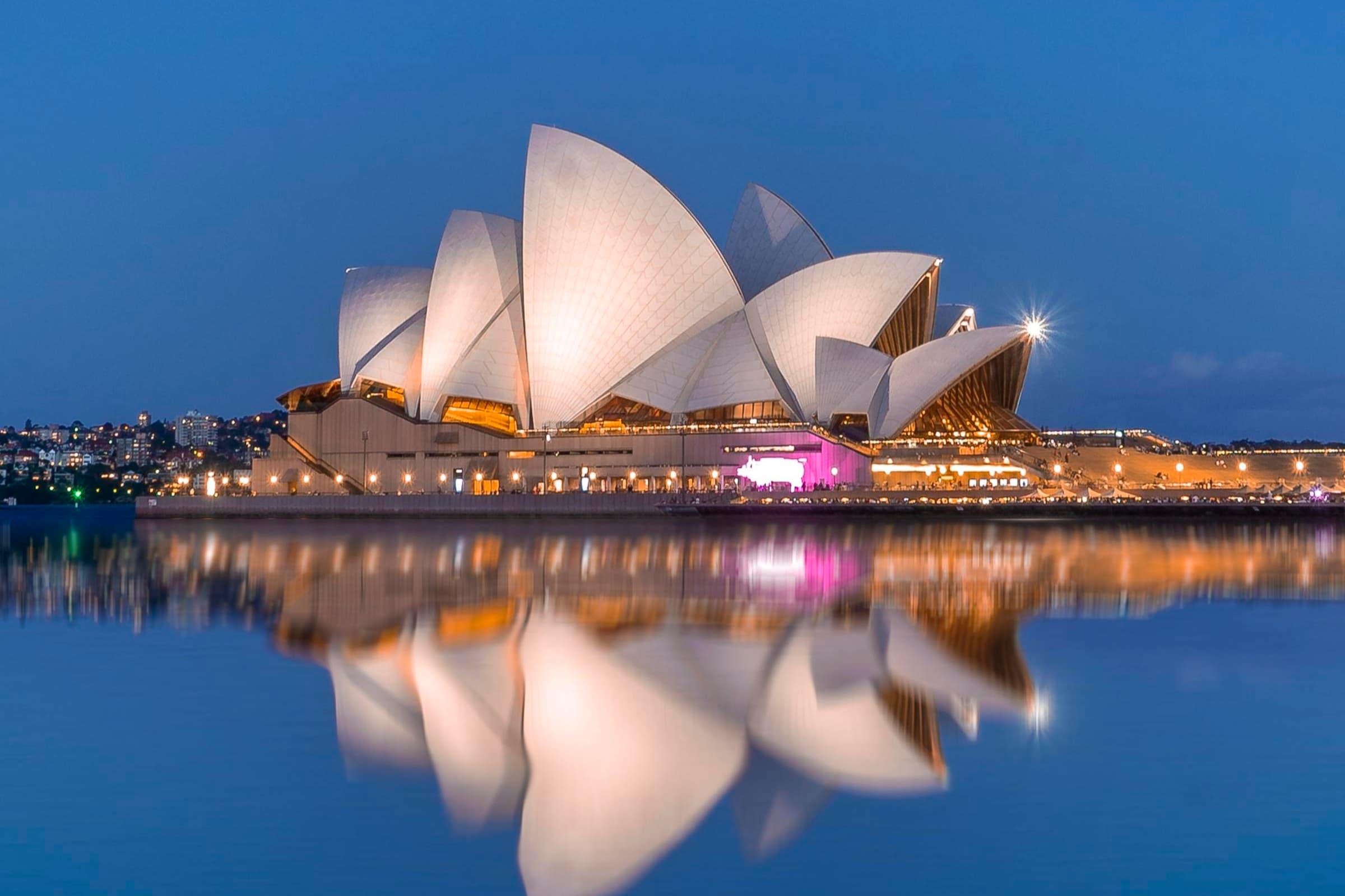 Sydney Opera House Night View
