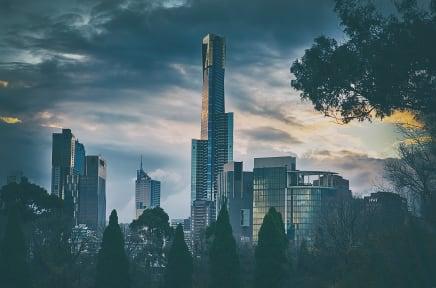 Melbourne skyline Eureka Tower