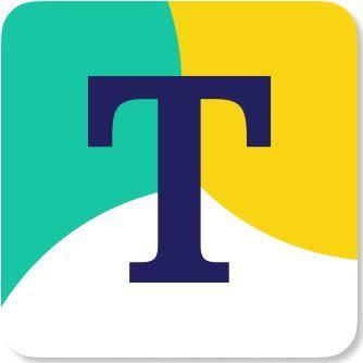 "Transcarent Logo - Tri-Color ""T"" emblem"