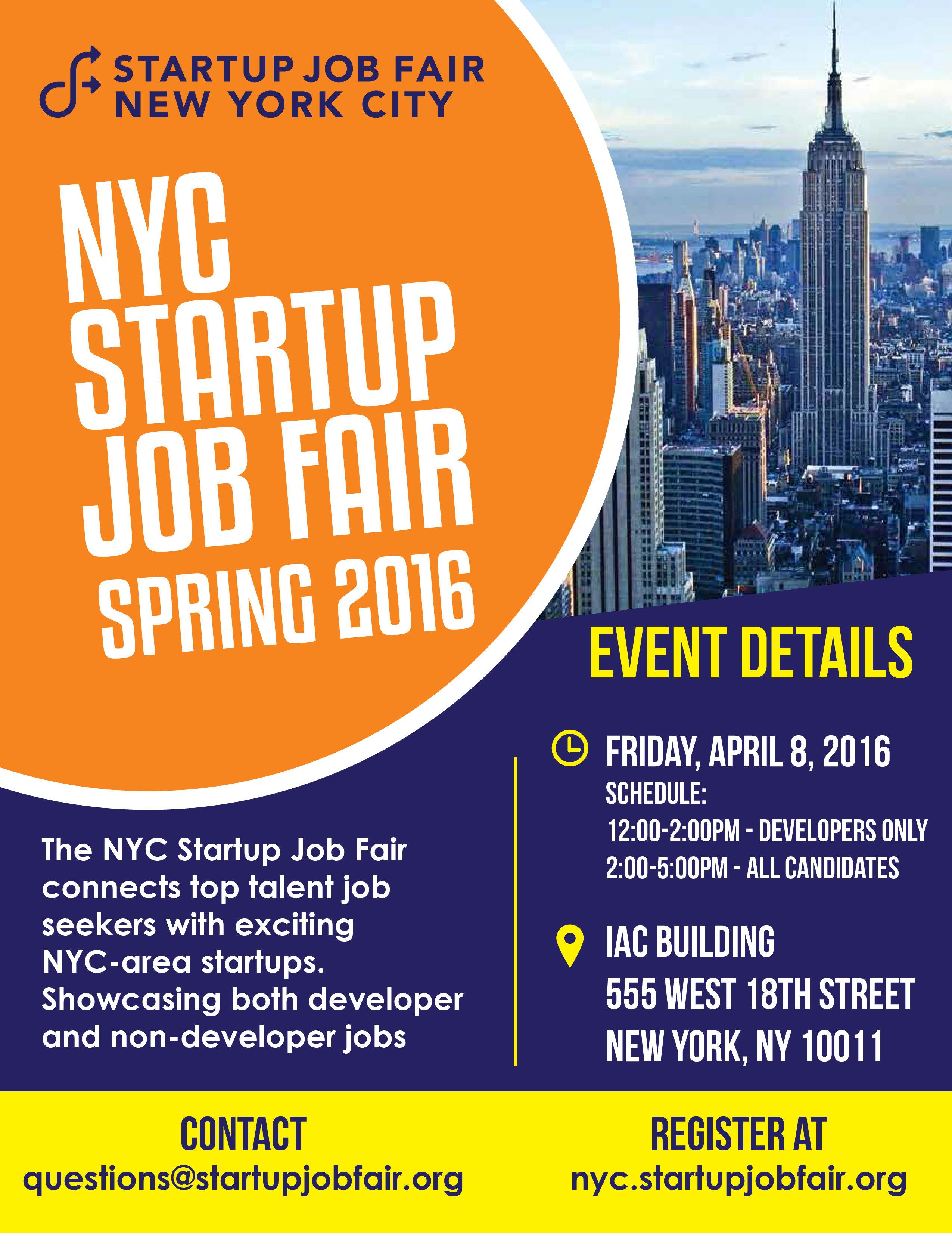nyc startup job fair spring crunchbase