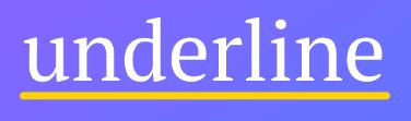 Underline (BookVitals) icon