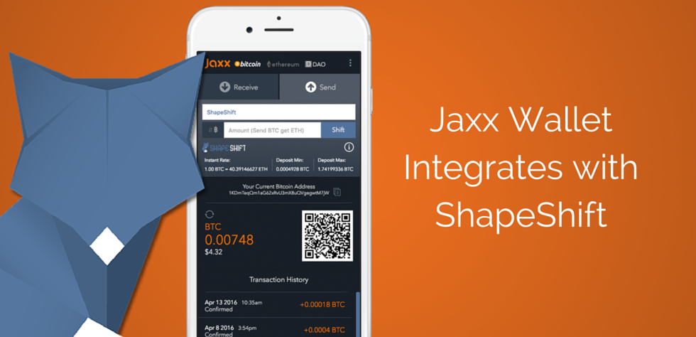 Jaxx to Offer ShapeShift Membership to its Users
