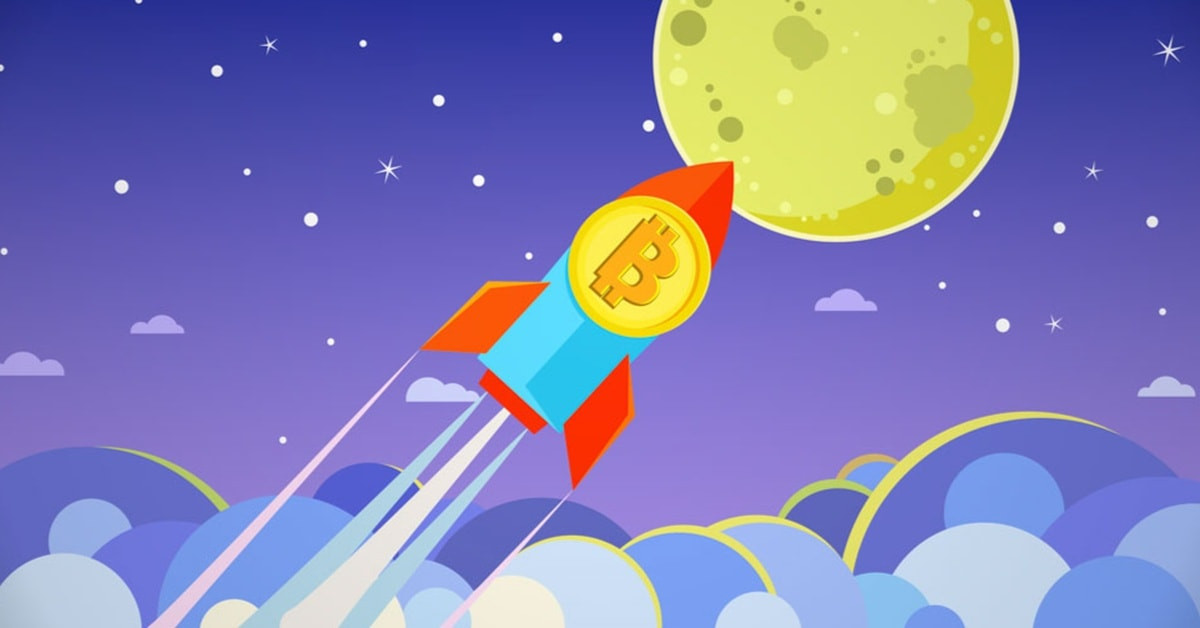 Bitcoin price rockets through $10k