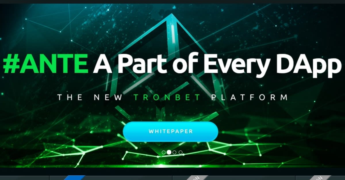 TRONbet's ANTE token heads list of most valuable gambling cryptos