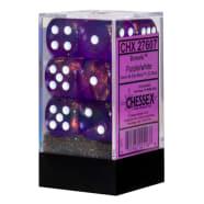 16mm d6 Dice Block: Borealis Purple w/White Thumb Nail