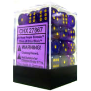 12mm d6 Dice Block: Borealis Royal Purple w/Gold Thumb Nail