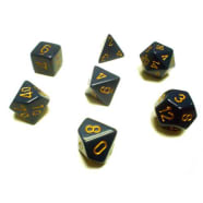 Poly 7 Dice Set: Opaque Dusty Blue w/Copper Thumb Nail