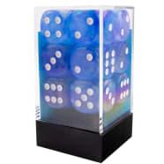 16mm d6 Dice Block: Borealis Luminary: Blue/White Thumb Nail