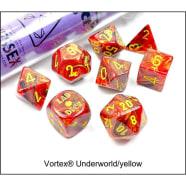 Lab 7 Dice Set: Vortex Underworld/Yellow Thumb Nail