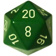 34mm d20: Opaque Green w/White Thumb Nail