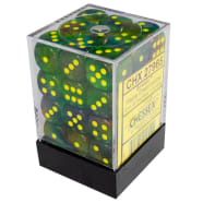 12mm d6 Dice Block: Borealis Maple Green w/Yellow Thumb Nail