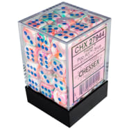 12mm d6 Dice Block: Festive Pop-Art w/Blue Thumb Nail