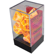 Poly 7 Dice Set: Festive Sunburst w/Red Thumb Nail