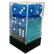 16mm d6 Dice Block: Borealis Sky Blue w/White Thumb Nail