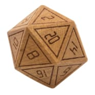 33mm Wooden d20: Beech Thumb Nail