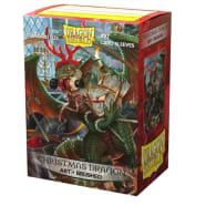 Dragon Shield Sleeves: Brushed Art - Christmas Dragon 2020 (100) Thumb Nail