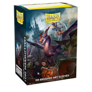 Dragon Shield Sleeves: Brushed Art - Matte Halloween Dragon 2021 (100) Thumb Nail