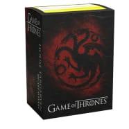 Dragon Shield Sleeves: Standard - Brushed Game of Thrones 'House Targaryen' (100) Thumb Nail