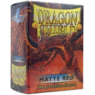 Dragon Shield Sleeves: Matte Red (100) Thumb Nail