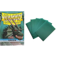 Dragon Shield Sleeves: Green (50) - Mini Size Thumb Nail