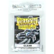 Dragon Shield Sleeves: Clear (50) - Mini Size Thumb Nail