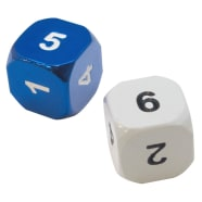 Heavy Metal Magic Guild Dice: Azorius Thumb Nail