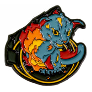 Heavy Metal Magic Pyro Pals Pin Set - Flint the Fire Cat Thumb Nail