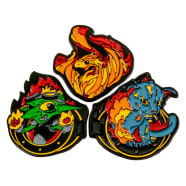 Heavy Metal Magic Pyro Pals Pin Set Complete Pin Set Thumb Nail